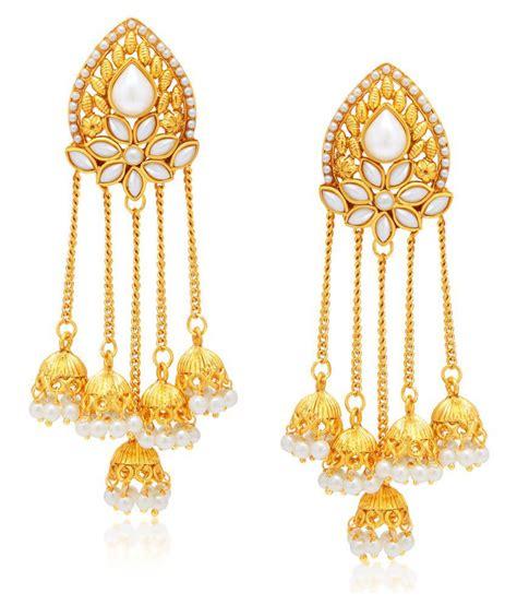 buy earrings sukkhi gold plated alloy earrings buy sukkhi gold plated