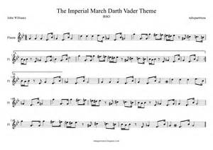 Tubescore sheet music for the imperial march for flute star wars