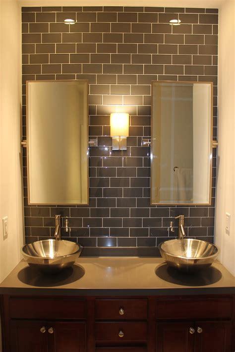 gray glass subway tile backsplash kitchens pinterest maybe for our kitchen backsplash loft ash gray polished