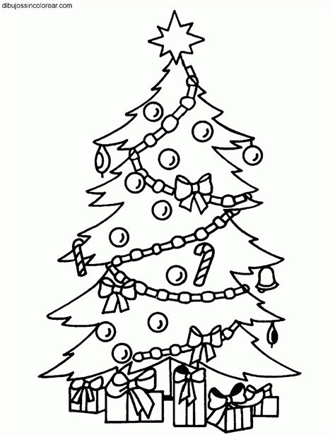 dibujos sin colorear dibujos de arboles de navidad para