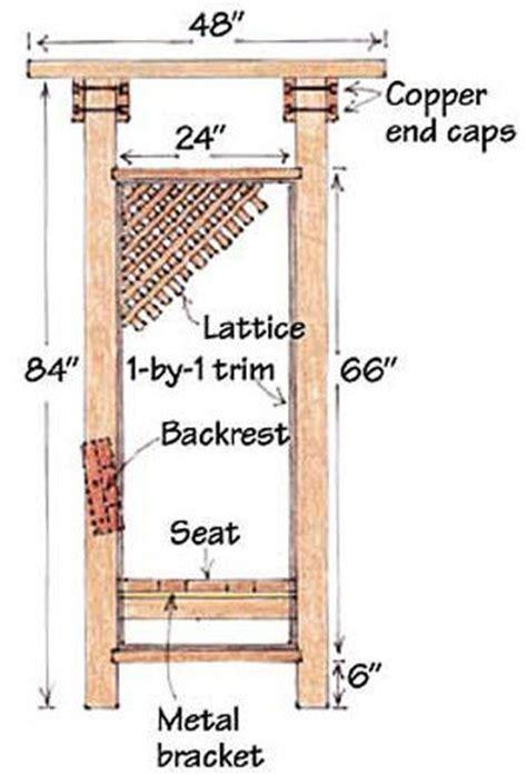 arbor bench plans simple plans for building a platform bed custom wood trim
