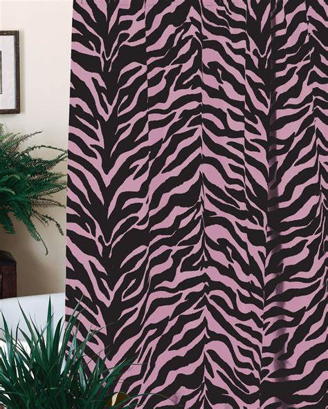 pink zebra curtains pink zebra shower curtain interiordecorating