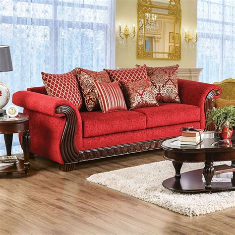 red chenille sofa red chenille sofa foter thesofa