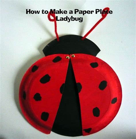 Ladybug Paper Plate Craft - 17 best images about mothers day on sunday