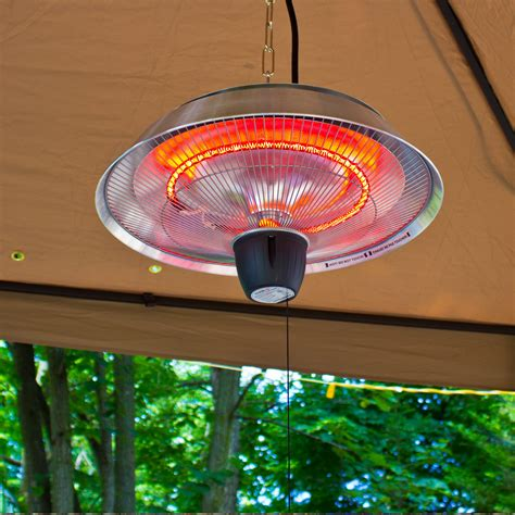 Ceiling Outdoor Heaters by Energ Infrared Gazebo Heater Silver Dfohome