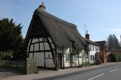file half timbered thatched cottage geograph org uk