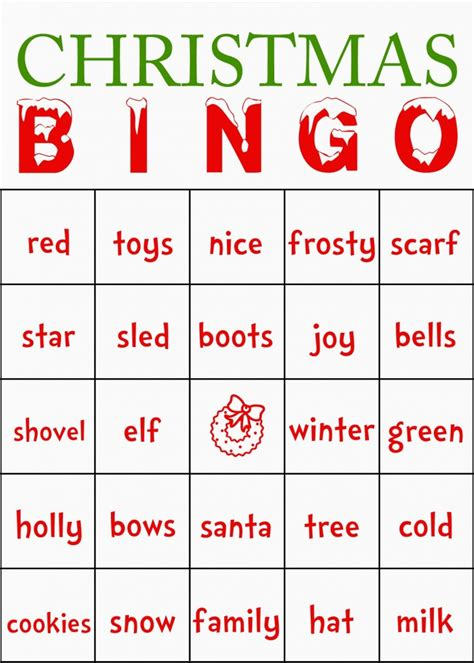large group preschool christmas activities bingo a knows
