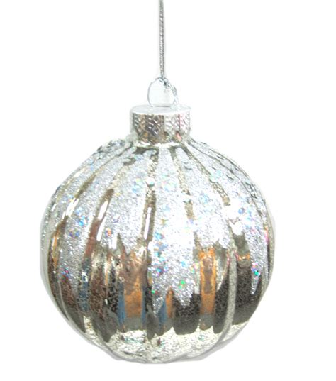 holiday cheer silver glitter glass ball ornament jo ann