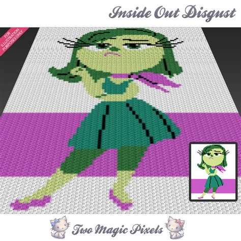 pattern magic look inside inside out disgust disney inspired c2c twomagicpixels