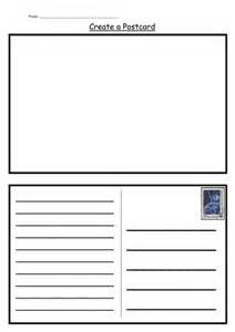 postcard template by kategc uk teaching resources tes