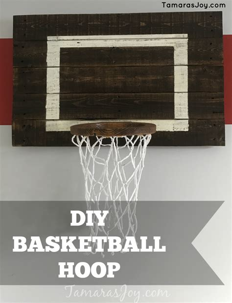 diy basketball hoop for my boys bedroom tamara s joy
