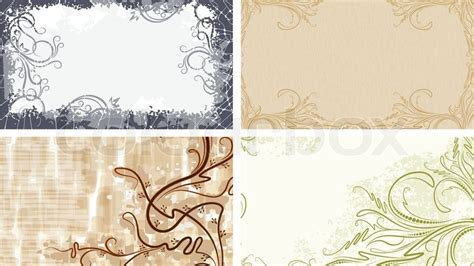 Home Design Credit Card set of 4 backgrounds for visiting cards stock vector