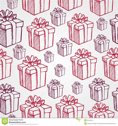 gift pattern vector vintage christmas presents seamless pattern backgr stock