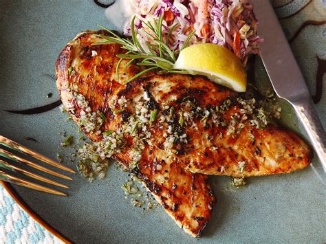5 minute grilled chicken cutlets with rosemary garlic and lemon recipe serious eats