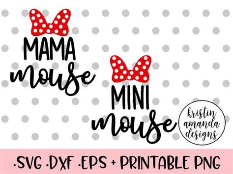 mama mouse mini mouse disney svg dxf eps png cut file