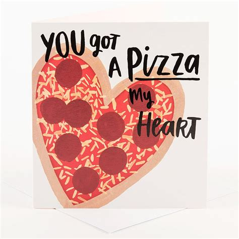 valentines day pizza s day card pizza