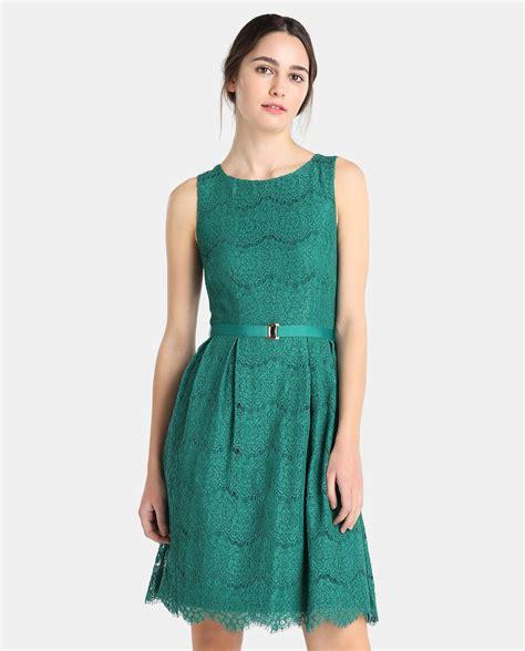 el corte ingl s vestidos el corte ingl 233 s vestido encaje verde sin mangas