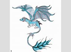 drawings of baby ice dragons