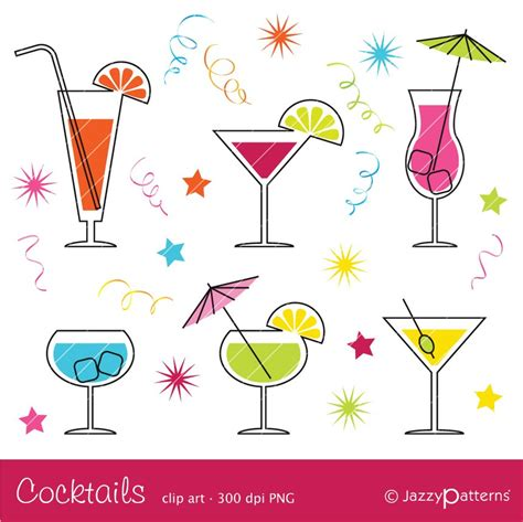 cocktail clipart ca017 sofort download