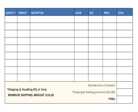 sales order forms templates free payslip template in excel