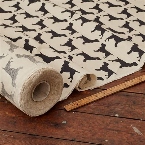 custom printed upholstery fabric printed spaniel cotton drill fabric the labrador co