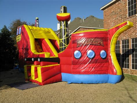 up bouncy house pirate ship combo 3 n 1 climb slide combo jump houses dallas