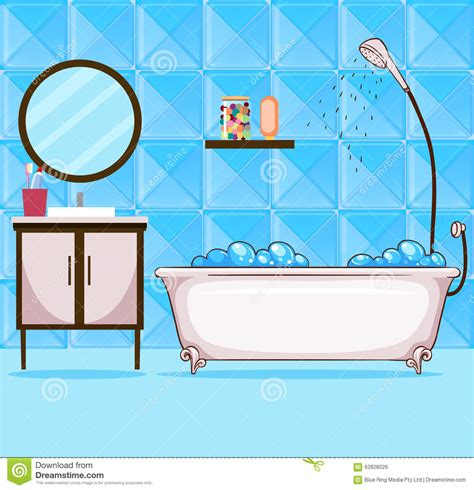 bathroom clipart pictures bathroom with bathtub and shower stock vector image
