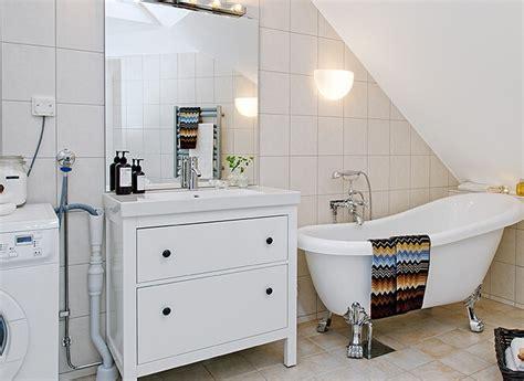 Scandinavian style loft bathroom