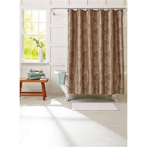 leaf shower curtain modern leaf shower curtain peridot walmart com