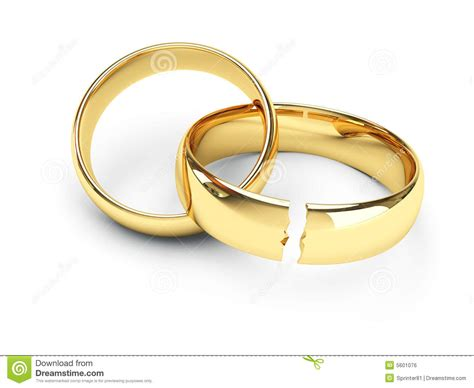 Hochzeitsringe Gold by Gold Gebrochene Hochzeitsringe Lizenzfreies Stockbild