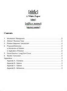White Paper Template by Sle White Paper Template 12 Free Documents In Pdf Word