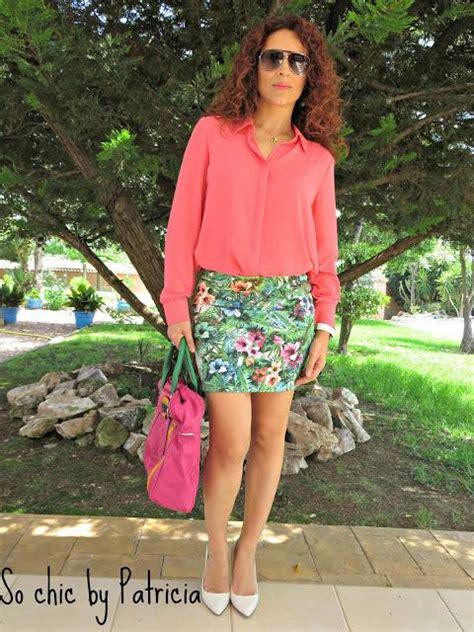 Tropic Print S M L Casu tropical print skirt paperblog