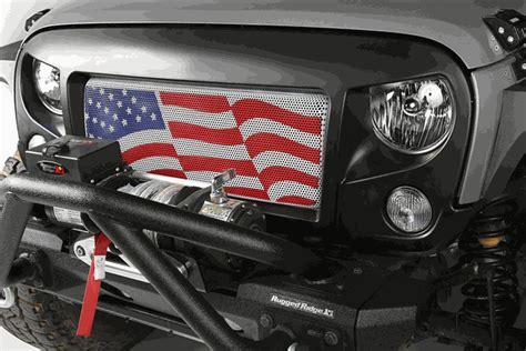 american flag jeep grill all things jeep spartan grille kit with american flag