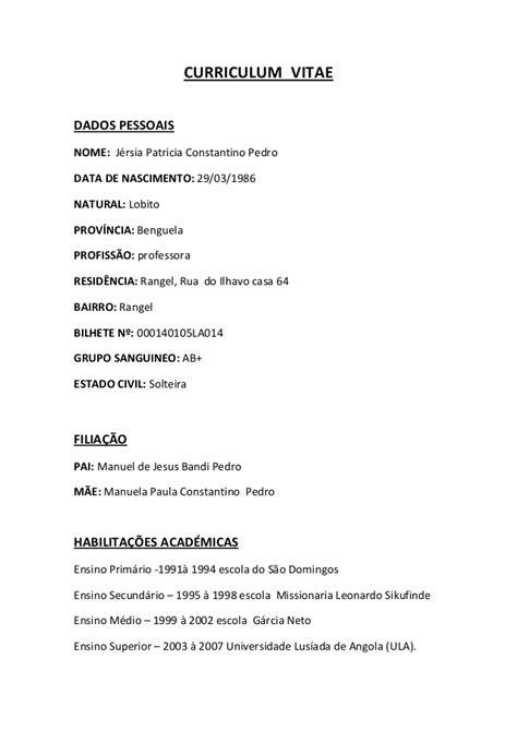 Modelo Curricular De Manuel Castro Pereira Curriculum Vitae