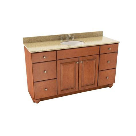 Silestone Bathroom Vanity Tops American Woodmark Charlottesville 61 In Vanity In Cognac
