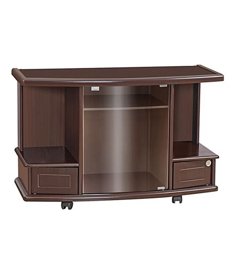 home craft brown walnut finishtv cabinet with storage