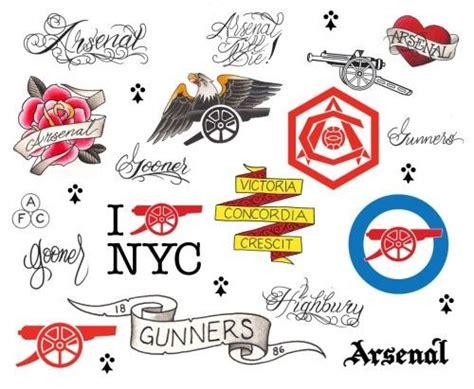 arsenal tattoos designs arsenal 1886 tattoos by three tattoos goooooooners