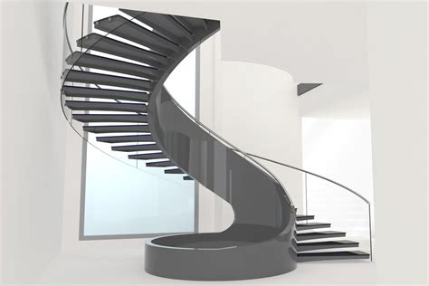 Circular Stairs Design Astounding Modern Home Spiral Staircase Design Using Wooden Handrail Also Black Iron Baluster