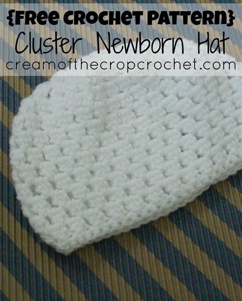image pattern clustering cluster newborn hat free crochet pattern cream of the