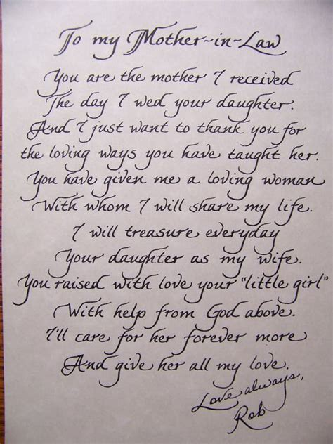 Parent Thank You Letter Wedding Poem To In Laws On Wedding Day Wedding Mothers And The Personal