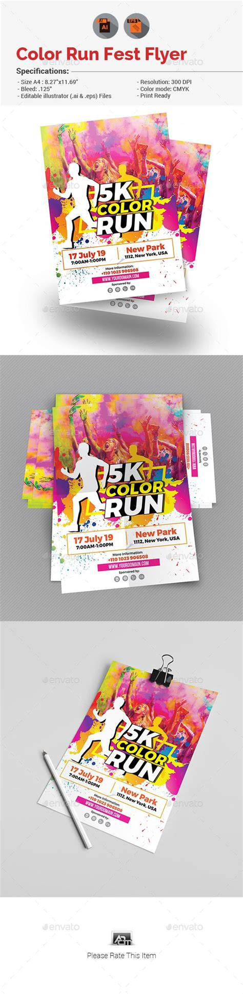 Color Run Flyer Color Run Flyer Template