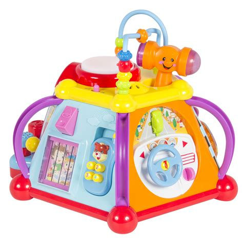 activity toys baby musical activity cube play center with lights 15 functions skills ebay
