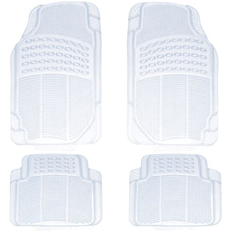 Clear Rubber Mats by Trimmable All Weather Clear Mat 4 Pieces Floor Mats Best