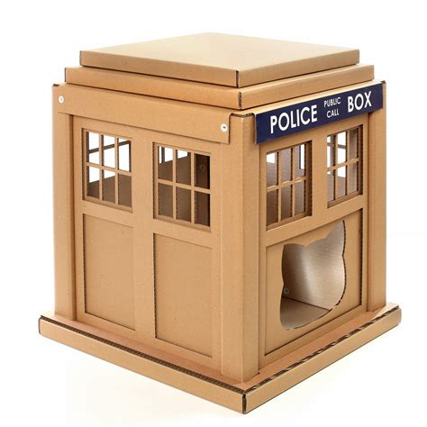 cardboard cat house plans tardis cat house plans 28 images un arbre 224 chat tardis pour les fans de dr who