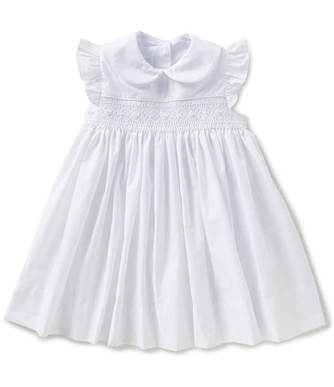 white baby dress edgehill collection baby 12 24 months smocked dress