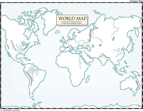 4 best images of world map outline printable world map