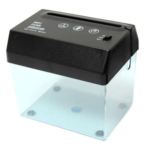 mini usb electric powered paper shredder cutter letter opener shred paper machine for home