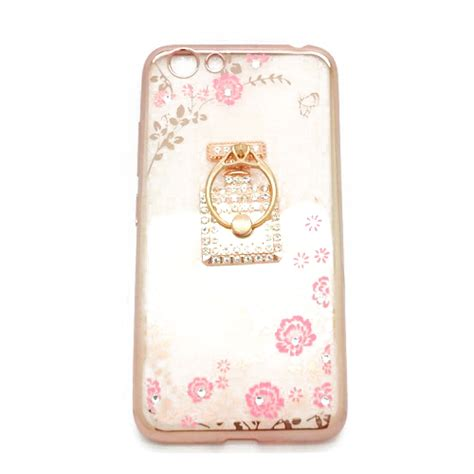 Casing Bunga Soft Flowers List Plus Ring For Vivo Y51 soft shining flower vivo y53 plus ring botol parfum pusaka dunia