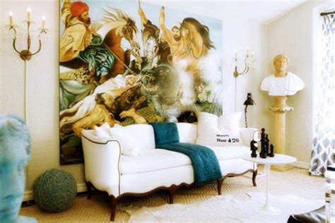 eclectic look lavish eclectic style interiors living room furniture