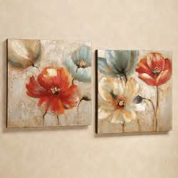 Canvas Decorations For Home Canvas Wall Joyful Garden Floral Canvas Wall Wall Decor Home Decorations Living Room